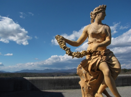 Biltmore statue with flower bough (2) (800x593)